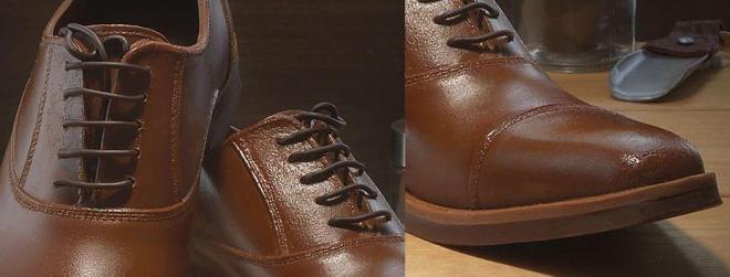 靴ひもや中敷き、ソールなどもチョコレートでできている