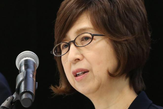記者会見で話すDeNAの南場智子会長=12月7日午後、東京都渋谷区、関田航撮影