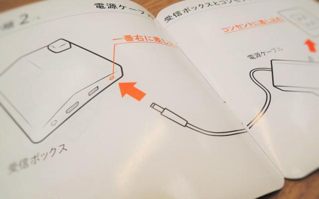 極力文字を減らした電源ケーブルの説明