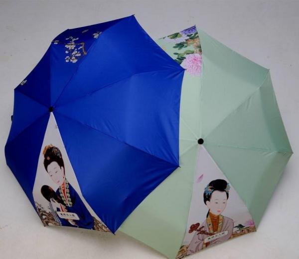 美人図を使った傘