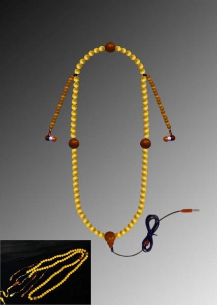 清王朝の皇帝が使う「朝珠」を模したイヤホンが大人気