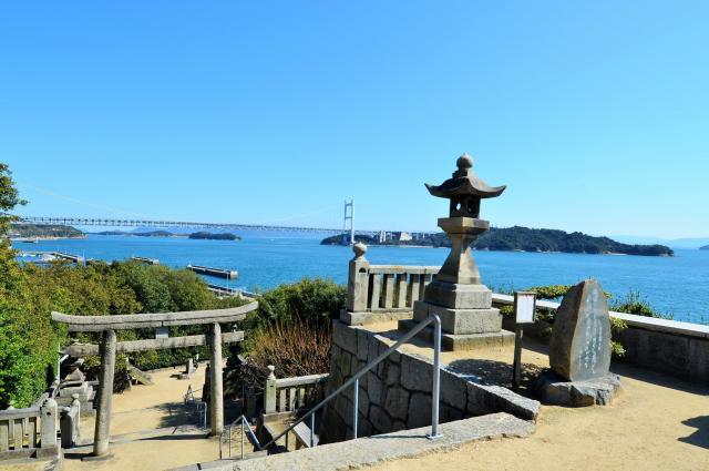岡山県倉敷市から望む瀬戸内海