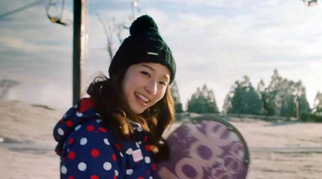五ヶ瀬ハイランドスキー場の2017シーズンCM『目指せ4万人!』の一場面