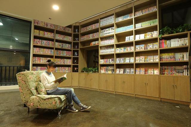 杭州にある漫画家村の図書館