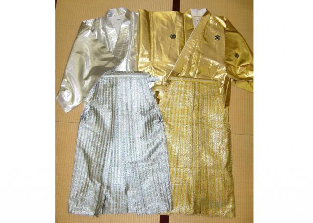 レンタル衣装店「みやび」が2003年に注文を受けた「金さん・銀さん」の衣装