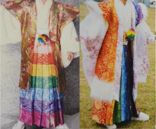 池田雅店長がムリだと思ったという「虹キング」(左)とそこから派生した「2代目虹キング」=みやび提供