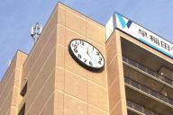 西船橋校に設置された13時時計