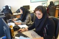 ISNAの国際部。大統領や大臣の外遊に同行する記者もいます