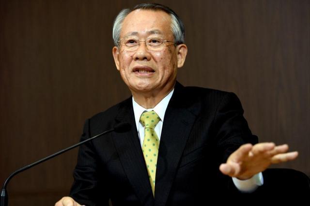 NHK次期会長の上田良一氏=2016年12月6日、北村玲奈撮影