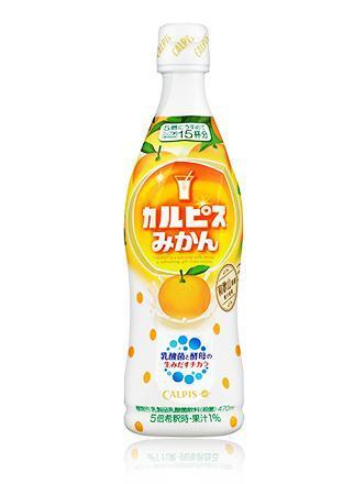 「カルピス」みかん プラスチックボトル470ml