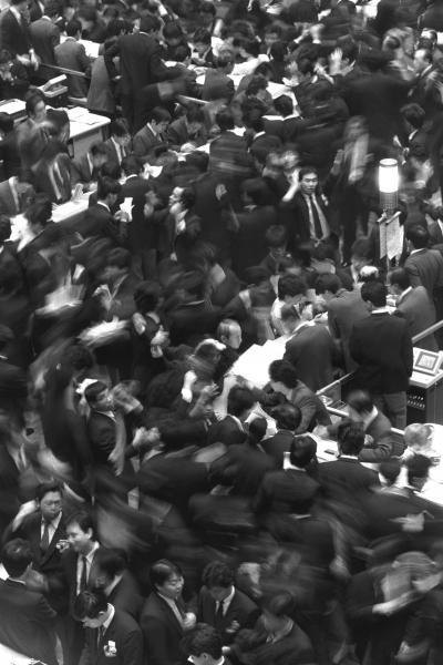 活況だったバブル時代の東京証券取引所