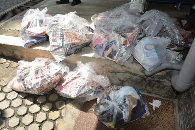 1日の回収物は大きいゴミ袋10袋あまりになった