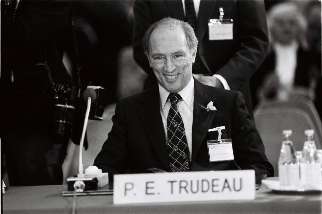 カナダに多文化主義を導入したピエール・トルドー元首相=1986年
