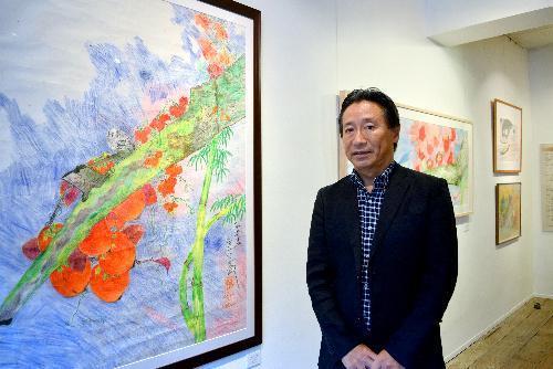 ジミー・ミリキタニさん(左)と交流のあった坂本穣治さん=坂本さん提供