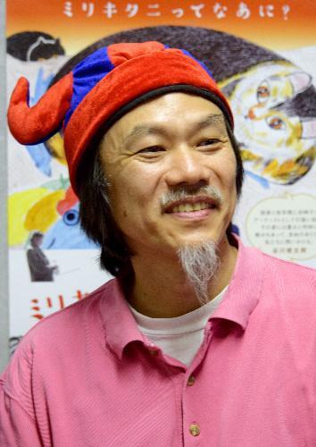 マサ・ヨシカワさん。バイキング風の帽子をかぶる理由は「ドキュメンタリーは硬いと思われたくないので」=渋谷区