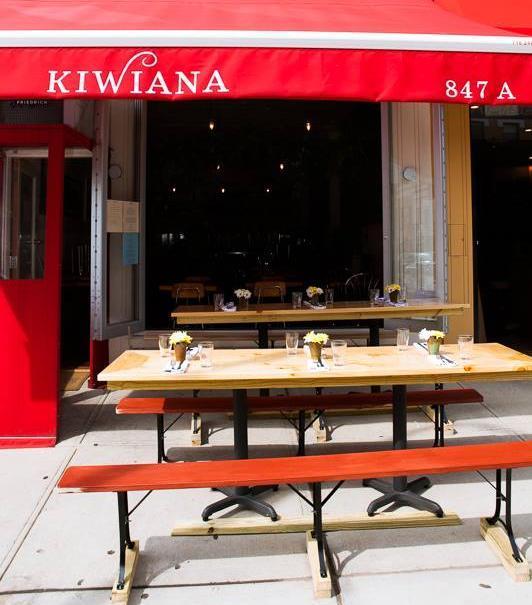 レシートに一文を載せたNYの「キウイアナ・レストラン」の外観