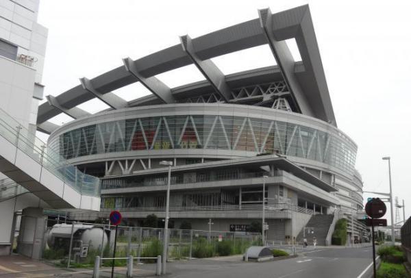 岡崎体育さんがあこがれる「さいたまスーパーアリーナ」=2014年7月3日、さいたま市中央区