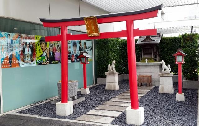テレビ朝日本社7階にある「テレビ朝日稲荷」=東京都港区