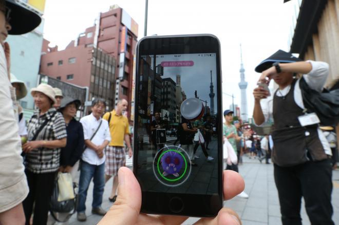 「ポケモンGO」で東京都内有数の観光スポット、浅草にもモンスターが=2016年7月