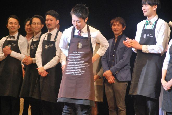 アンバサダーさんに選ばれた坂本大輔さん(中央)
