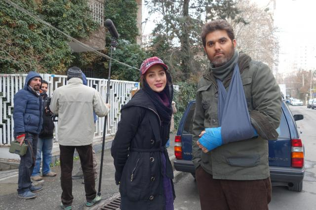 テヘランでたまたま出くわしたロケ中の俳優さん。イランでは伝統的なタイプのハンサム