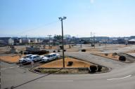 「ケーキバイキング」作戦を展開する城北自動車学校の教習コース=熊本県菊池市