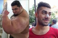 左はイランの伝統的イケメン、サジャド・ガリビさん(写真は本人提供)、右は最近のイケメンで鼻ばんそうこうをしたアリさん