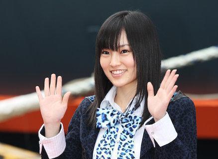 NMB48の山本彩さん。デビューして間もないころ