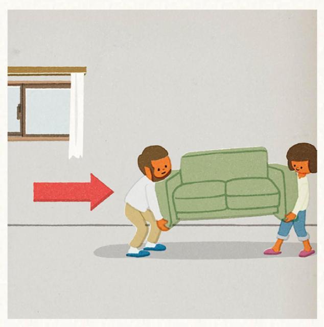 窓もベランダも近くに足がかりになるものを作らないことが予防のポイント=Safe Kids Japanのホームページから