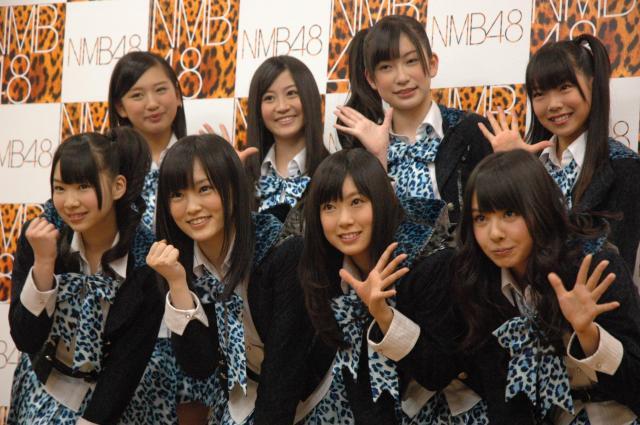 デビュー間もないころのNMB48のメンバー(2011年)
