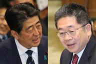 参院予算委員会で論戦をした共産党の小池晃書記局長と安倍晋三首相