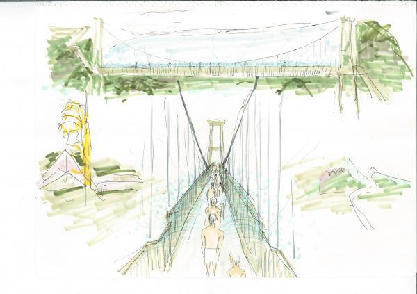 「湯~園地」にできる「架け橋かけ湯」=別府市提供