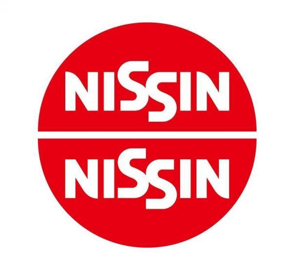 NISSINのロゴ(下)と、上下を逆さにしたロゴ(上)。ちゃんとNISSINと読むことができる