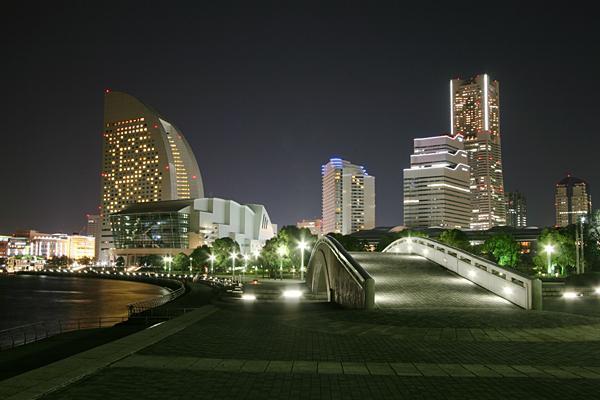 実際に臨港パークから見える夜景=パシフィコ横浜提供