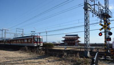 近鉄電車=奈良市、2017年2月27日