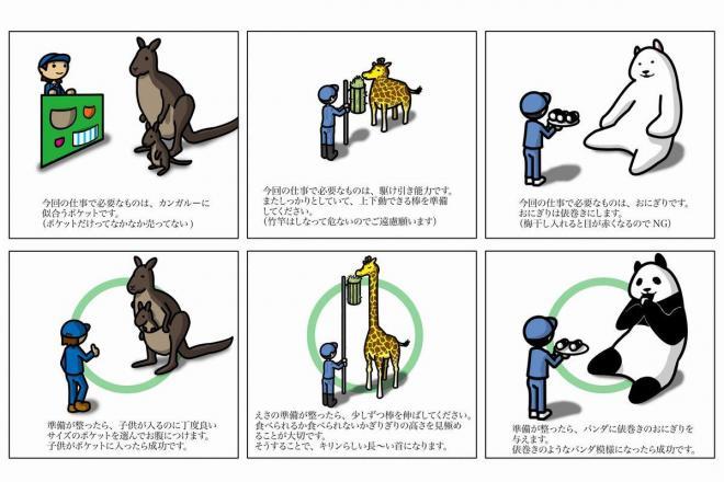 hiroshikiさん作「飼育員の秘密のお仕事マニュアル」の一部