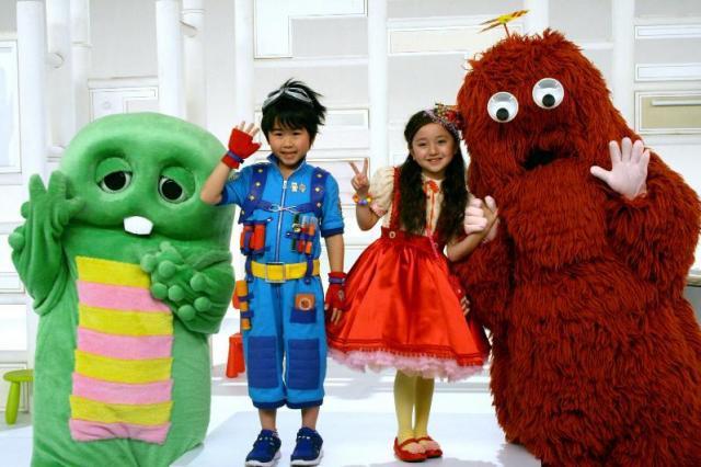 2012年から「beポンキッキーズ」にメインキャストとして登場した鈴木福くんと谷花音ちゃん