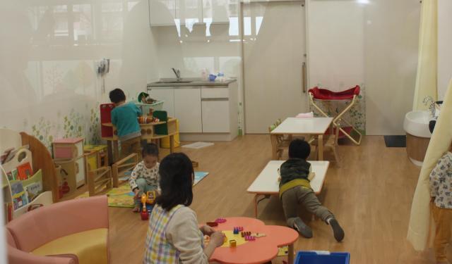 保育園内にある「子育て交流サロン」のスペース