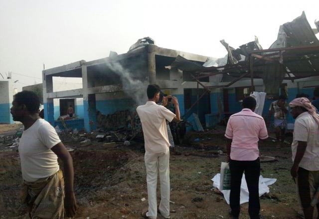イエメン北部のハッジャ州で空爆された病院
