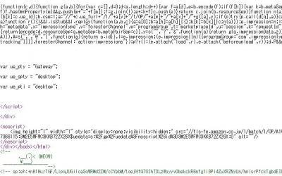 長大なソースコードの末尾を見ると・・・