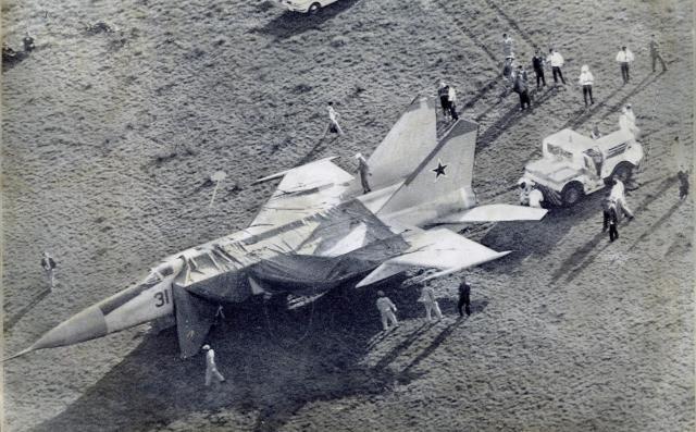 1976年、亡命のために北海道・函館空港に強行着陸したソ連の戦闘機