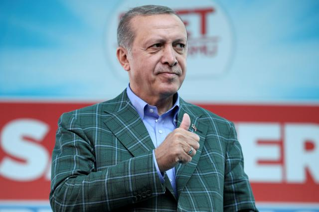 トルコのエルドアン大統領=2017年4月15日