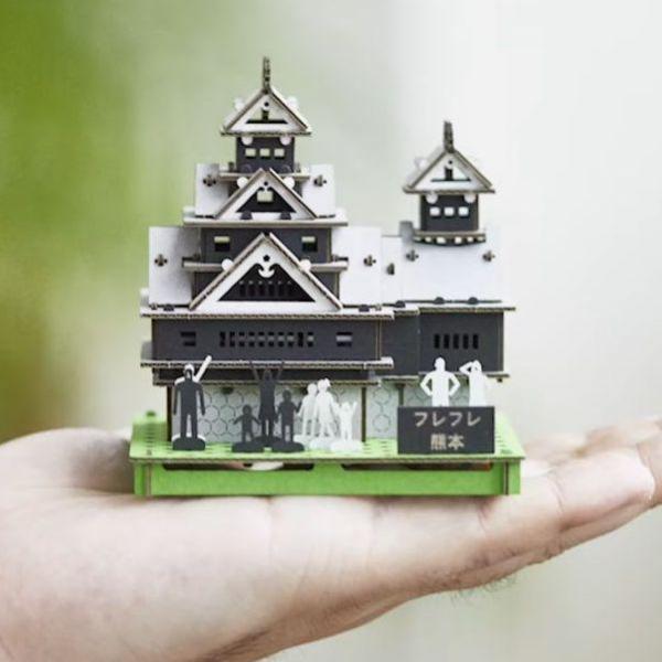 段ボールでできた熊本城