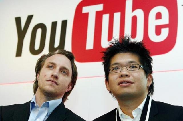YouTubeの共同創設者、チャド・ハーレーとスティーブ・チェン=ロイター
