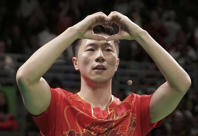 リオオリンピックで卓球男子シングルス金メダルを獲得した馬龍選手=2016年8月、ブラジル・リオ