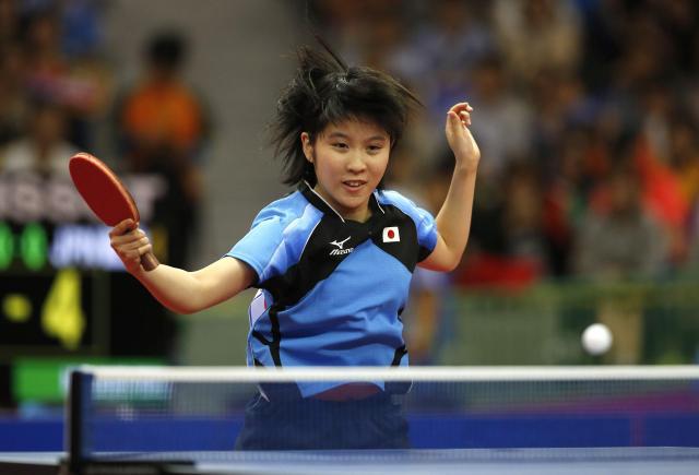 2014年のアジア大会に参加した平野美宇選手=韓国・仁川