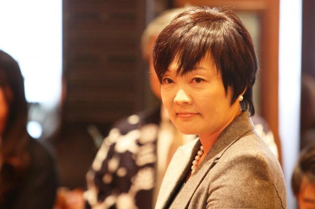 「私人である」との答弁書が閣議決定された安倍昭恵氏=2017年2月、東京都中央区