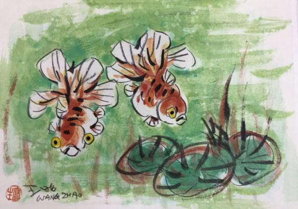 王昭さんの作品「金魚」