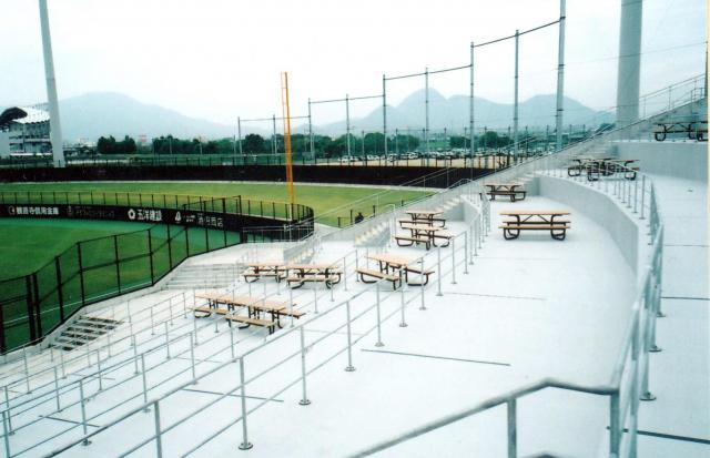 四国コカ・コーラボトリングスタジアム丸亀にあるバーベキューができる席