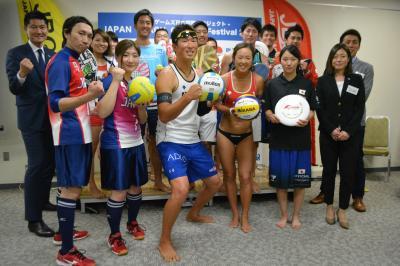 ジャパンビーチゲームズフェスティバル2017に出場予定のトップアスリートたち